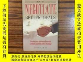 二手書博民逛書店NEGOTIATE罕見BETTER DEALS-談判更好的交易Y