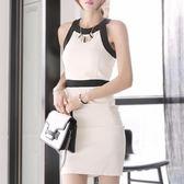 黑五好物節 掛脖連衣裙女夏洋裝小禮服氣質女人味 宴會名媛包臀裙黑白裙子 艾尚旗艦店