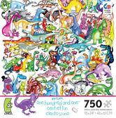 【美國 Ceaco】盒裝拼圖-One Hundred and One-One Hundred Dinosaurs and an Egg(750片)
