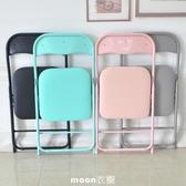 【現貨】 折疊椅子便攜凳子靠背椅塑料家用餐椅簡約辦公椅會議椅電腦培訓椅