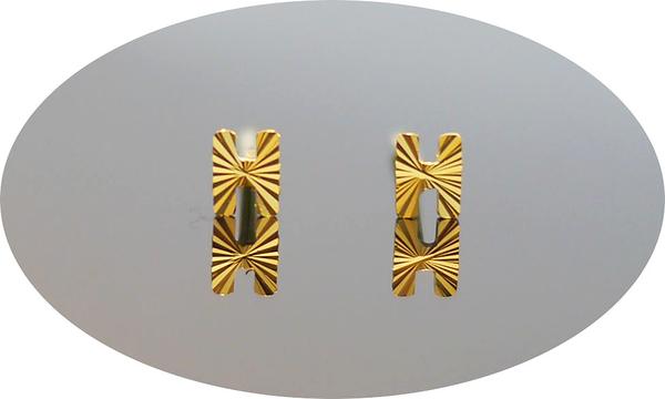 gold 黃金 耳環 金飾 保證卡 重量0.14錢 [ ge 054 ]