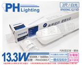 PHILIPS飛利浦 LED BN006C G2 SD 13.3W 6500K 白光 全電壓 2尺 感應 停車場燈 支架燈 _ PH430857
