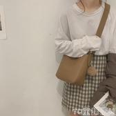水桶包高級感包包女秋冬新款潮洋氣復古時尚水桶包大容量側背斜背包促銷好物
