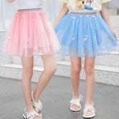 女童短裙 凱獅歐 2020春夏女童百褶短裙3-14歲女孩舞蹈裙 兒童網紗半身裙子 源治良品