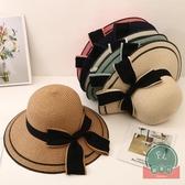 防曬沙灘帽親子帽遮陽帽草帽兒童【福喜行】