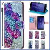 小米 紅米Note 7 紅米6 閃片皮套 手機皮套 插卡 支架 掀蓋殼 皮套 保護套 可掛繩