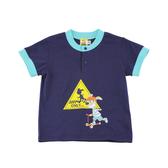 【愛的世界】純棉圓領前釦撞色短袖上衣/2~3歲-台灣製-  ---春夏上著 夏出清