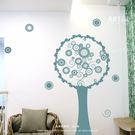 ☆阿布屋壁貼☆普普圈圈樹-A  -L尺寸  壁貼