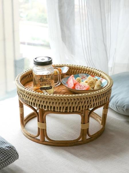 異麗泰國藤編飄窗茶幾家用矮桌日式陽臺榻榻米小桌子