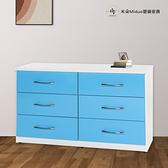 【米朵Miduo】塑鋼六斗櫃 置物收納櫃 防水塑鋼家具