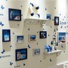 簡約現代置物架照片牆歐式客廳相框牆掛牆相...