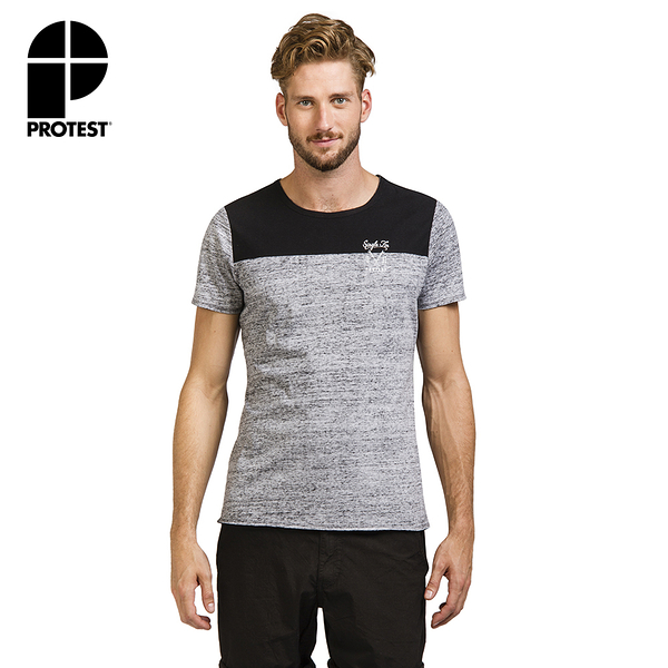 PROTEST 男 短袖T恤 (真實黑) VOCALS T-SHIRT