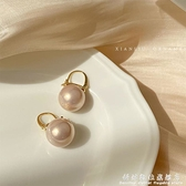 復古氣質大珍珠耳環女韓國網紅耳扣高級感耳釘2021年新款潮耳飾品 科炫數位