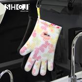 五指隔熱手套 SHCJ生活采家  雙層 加厚 加棉 烘培防燙耐高温矽膠  SGS檢驗合格#53001
