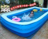 充氣泳池超大號兒童游泳池家用加厚寶寶充氣水池嬰兒游泳桶成人家庭洗澡池igo    蜜拉貝爾
