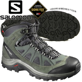 Salomon 390409 Authentic Ltr GTX中筒登山鞋 瀝灰/霧綠/鋁白 Gore-Tex健行鞋/多功能鞋/防水越野鞋