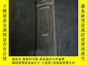 二手書博民逛書店the罕見refractories journal 1957(耐