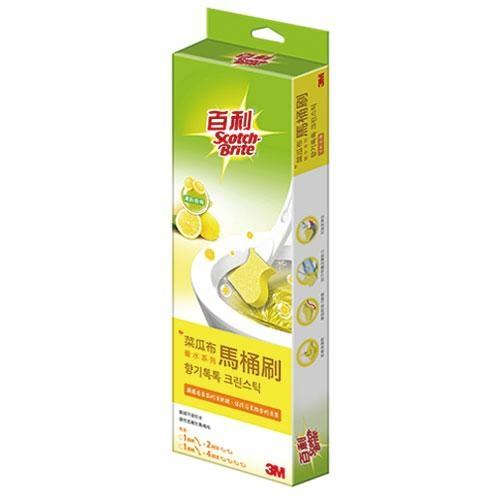 3M百利 菜瓜布馬桶刷香水系列(香檸)【愛買】