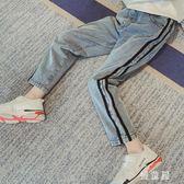 女童褲子2019春秋新款中大童小腳褲洋氣長褲女孩休閒褲兒童牛仔褲 QG19123『優童屋』