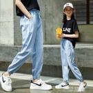 女童夏裝牛仔褲12歲童裝13夏季9洋氣8寬鬆小女孩夏天外穿薄款長褲 一米陽光