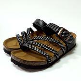 台灣製 車線 圖騰休閒拖鞋《7+1童鞋》D004白色