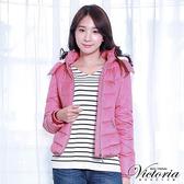 Victoria 圓弧下襬絲棉外套-女-紫粉/霧紫