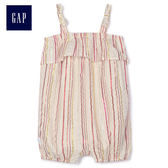Gap女嬰兒 吊帶條紋一件式連體短褲 467710-彩色條紋