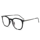 鏡架(圓框)-文藝復古簡約百搭男女平光眼鏡5色73oe75[巴黎精品]
