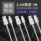 2.4A 素色極簡時尚設計充電傳輸線 Micro USB