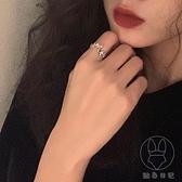溫柔水鉆蝴蝶開口戒指 簡約氣質大氣指環小眾獨立設計【貼身日記】