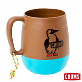 【日本製】CHUMS 露營野餐 圓桶馬克杯 棕/藍綠 (450ml) CH621047B014