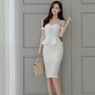 OL洋裝連身裙正韓版6276#夏新款韓版時尚氣質職業裝假兩件優雅大氣連身裙H506B快時尚