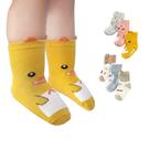 兒童襪嬰幼寶寶立體動物聚會短襪防滑襪子-JoyBaby