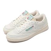 Reebok 休閒鞋 Club C 1985 TV 米白 綠 經典款 男鞋 復古 運動鞋 小白鞋【ACS】 DV6434