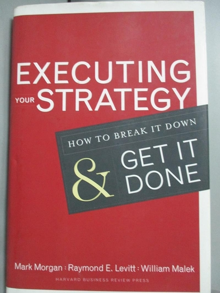 【書寶二手書T3/傳記_XBP】Executing Your Strategy: How to Break It Dow
