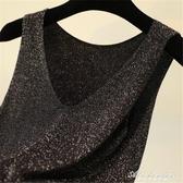 加肥吊帶背心女200斤內搭寬鬆短款夏季大碼打底春秋針織衫V領外穿