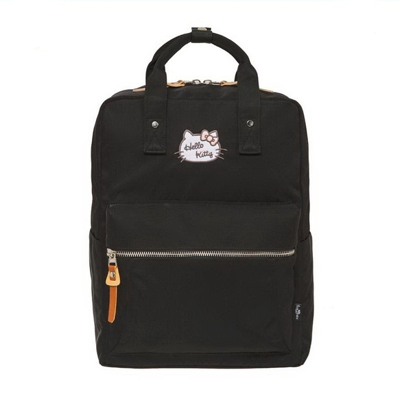 【Hello Kitty】凱蒂學院-方型後背包- 黑 FPKT0F001BK