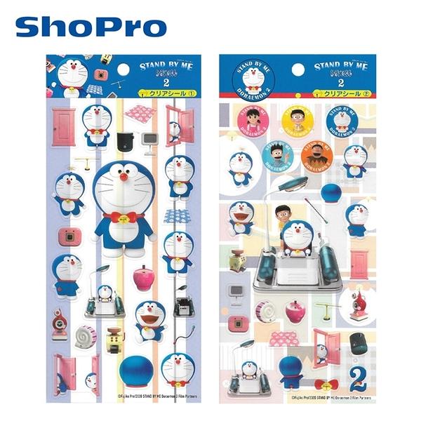 【日本正版】STAND BY ME 哆啦A夢2 透明貼紙 日本製 貼紙 手帳貼 小叮噹 DORAEMON 471101 471118