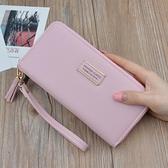 皮夾 時尚百搭新款簡約女士錢包長款拉鏈錢夾多功能皮夾手拿包現貨批發 交換禮物