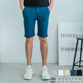 超彈力 工作短褲【F55703】OBIYUAN 韓版修身剪裁素面休閒短褲 共5色