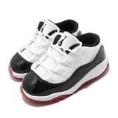 Nike Air Jordan 11 Low TD Concord Bred 白 黑 紅 童鞋 小童鞋 低筒 AJ11 籃球鞋 運動鞋【PUMP306】 505836-160