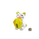 【收藏天地】台灣紀念品*大貓抱天燈夜光冰箱貼-黃