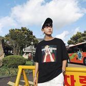 男短袖T恤 夏季短袖T恤韓版寬鬆純棉半袖休閒潮流男圓領韓版休閒上衣 潮流男裝wx4058