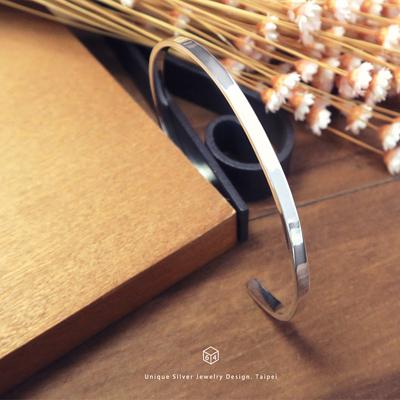 手環/手鐲 秘語悄悄 極簡 純銀C型手環-64DESIGN