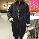 大衣 -Tirlo-保暖羔羊QQ毛長版大...