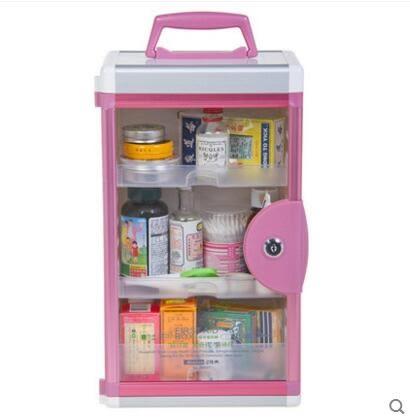 維簡藥品收納盒 醫藥箱小號大號家用急救箱 壁掛帶鎖人氣熱賣