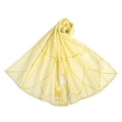 Sybilla幾何線條抗UV純綿薄圍巾(黃色)989401-B