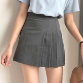 A字裙 春夏女裝韓版高腰顯瘦短款百褶裙百搭A字裙新款學生半身裙短裙潮 莎瓦迪卡