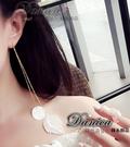 耳環 現貨 韓國氣質甜美女神款優雅飄逸蕾...