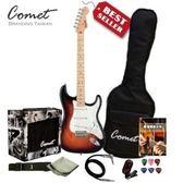 Comet  ST 1 電吉他+10瓦音箱+調音器+吉他教材+全配備套裝組( ST1 )  電吉他